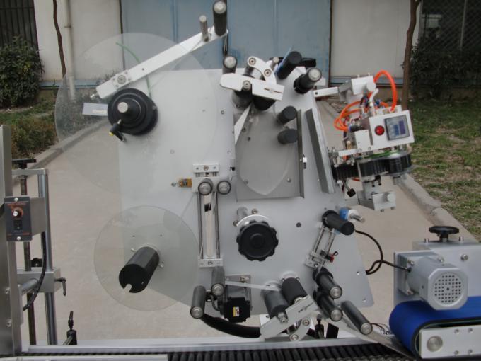 컨베이어 모터 HY 상표 작은 유리 병 레테르를 붙이는 기계, 전자 공학을위한 7 번째 건전지 상표 스티커 기계