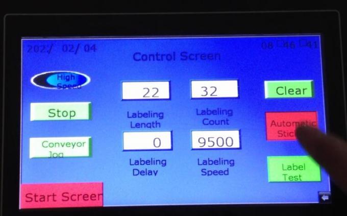 개체 감지 매직 아이 턴테이블이있는 자동 양면 스티커 라벨링 기계