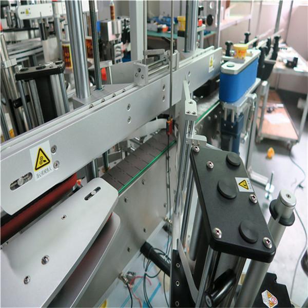 3 개의 선형 자동 접착 레테르를 붙이는 기계 정면 / 뒤 / 목 음료 / 음식 / 매일 화학 제품