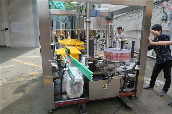 주스 맥주 병 Onefold 회전하는 스티커 레테르를 붙이는 기계 AC380V 50Hz 5.5KW