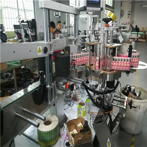 직사각형 정연한 단지 기름 병을위한 두 배 옆 스티커 레테르를 붙이는 기계