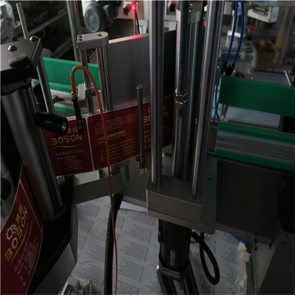 타원형 병 레테르를 붙이는 기계, 스티커 상표 도포 구 샴푸 및 제 정성 라벨 붙이는 사람
