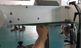 서있는 주머니를위한 자동적 인 병 라벨 붙이는 사람 두 배 옆 스티커 레테르를 붙이는 기계