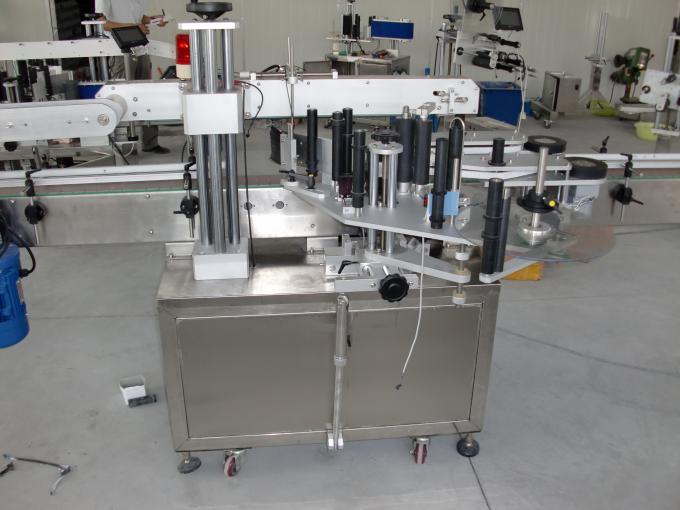 플라스틱 및 유리 병 PLC 제어 자동 양면 스티커 라벨링 기계 서보 모터