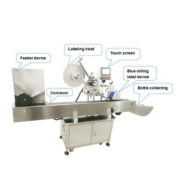 세륨 증명서를 가진 가득 차있는 자동적 인 병 상표 도포 구 기계