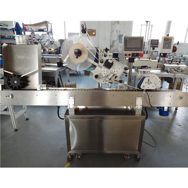 소형 병을위한 PLC 통제 경제 자동적 인 작은 유리 병 수평 한 레테르를 붙이는 기계