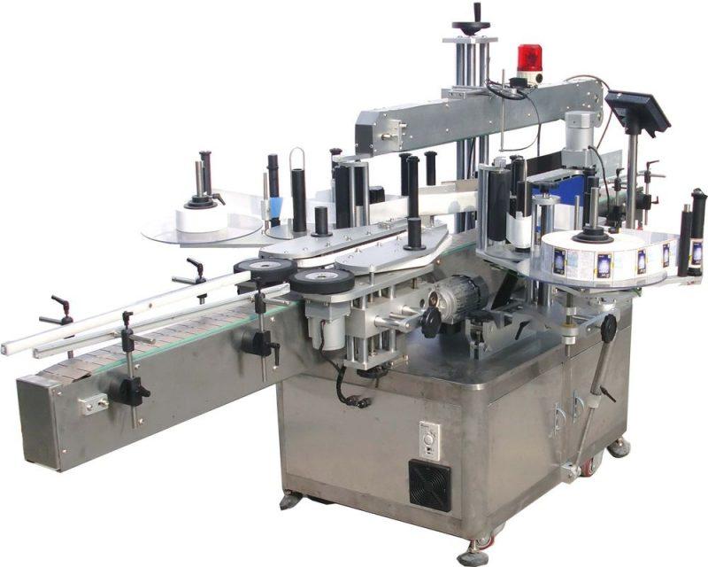 중국 고속 두 배 옆 스티커 레테르를 붙이는 기계 유압 기름 협력 업체
