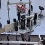 자동을 가진 정상 / 바닥 측 수직 스티커 둥근 병 레테르를 붙이는 기계