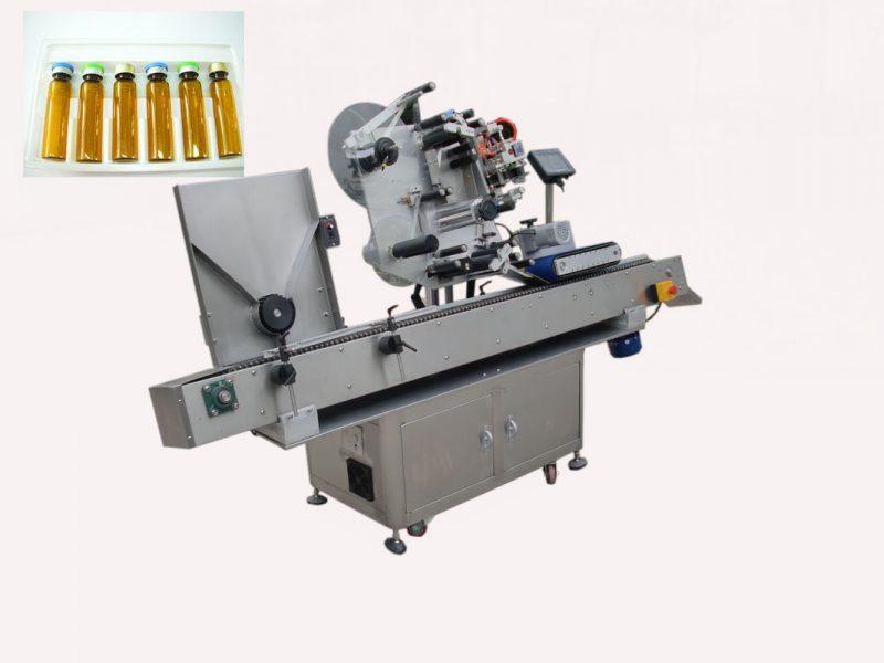 중국 경제 자동 접착 스티커 220V 2kw 50 / 60HZ를위한 자동적 인 우우 병 작은 유리 병 레테르를 붙이는 기계 협력 업체