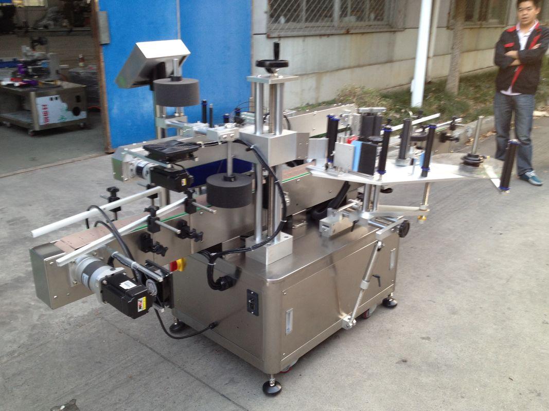 Opp 병 고속 뜨거운 용해 접착제를위한 자동적 인 스티커 도포 구 기계