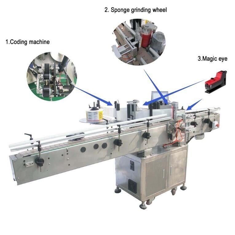 중국 큰 평면 목표 자동 접착 스티커 레테르를 붙이는 기계 시멘스 PLC 관제사 협력 업체