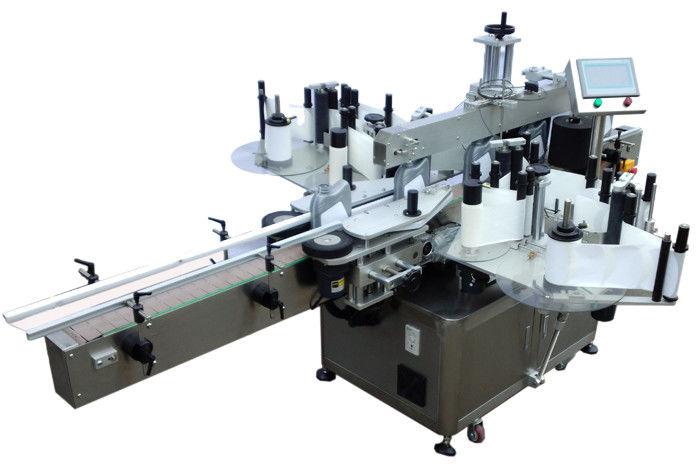 SUS304 스테인리스 경제 두 배 옆 스티커 레테르를 붙이는 기계