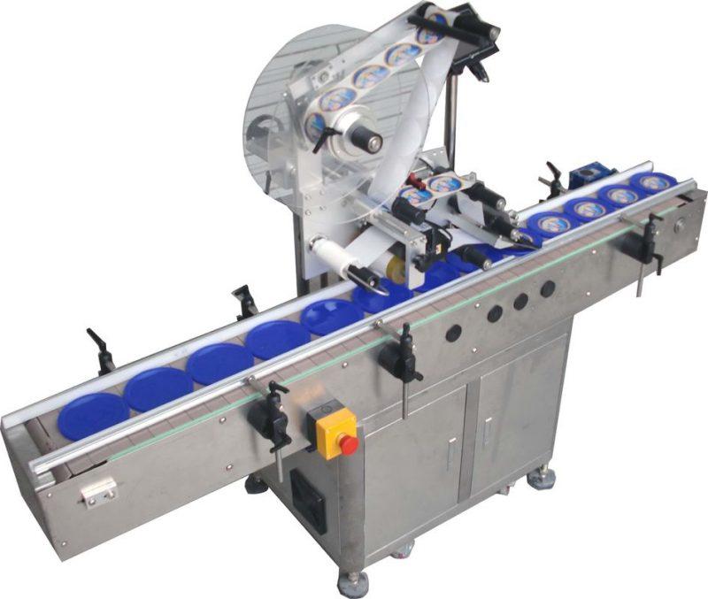 중국 자동적 인 평면 상표 도포 구 기계, SUS304 스테인리스 경제 자동적 인 정상 및 옆 레테르를 붙이는 기계 협력 업체
