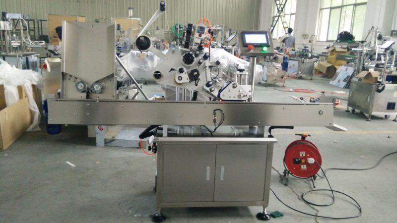 중국 접착 성 기계, 눈 화장품을위한 까만 병 상표 스티커 기계가 고속 작은 둥근 깡통에 의하여 레테르를 붙입니다 협력 업체