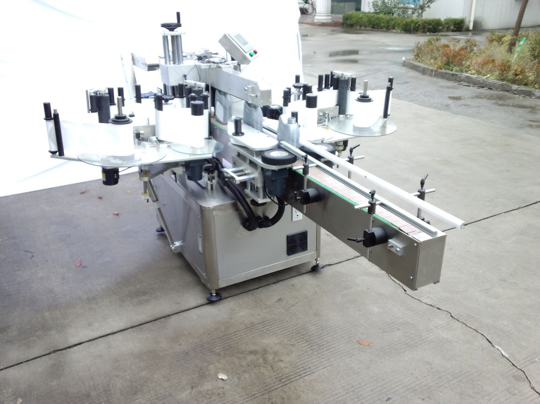 정면과 후면을 가진 자동적 인 양면 스티커 레테르를 붙이는 기계
