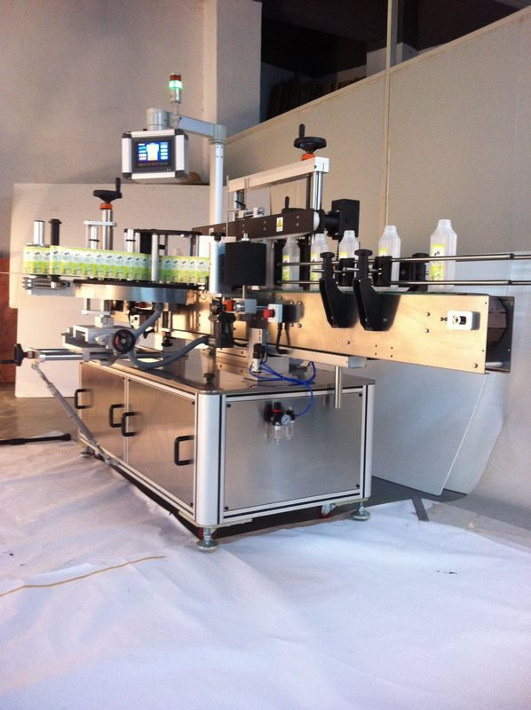 중국 음료 정연한 병 레테르를 붙이는 기계 두 배 편 들어 진 스티커 라벨 붙이는 사람 협력 업체