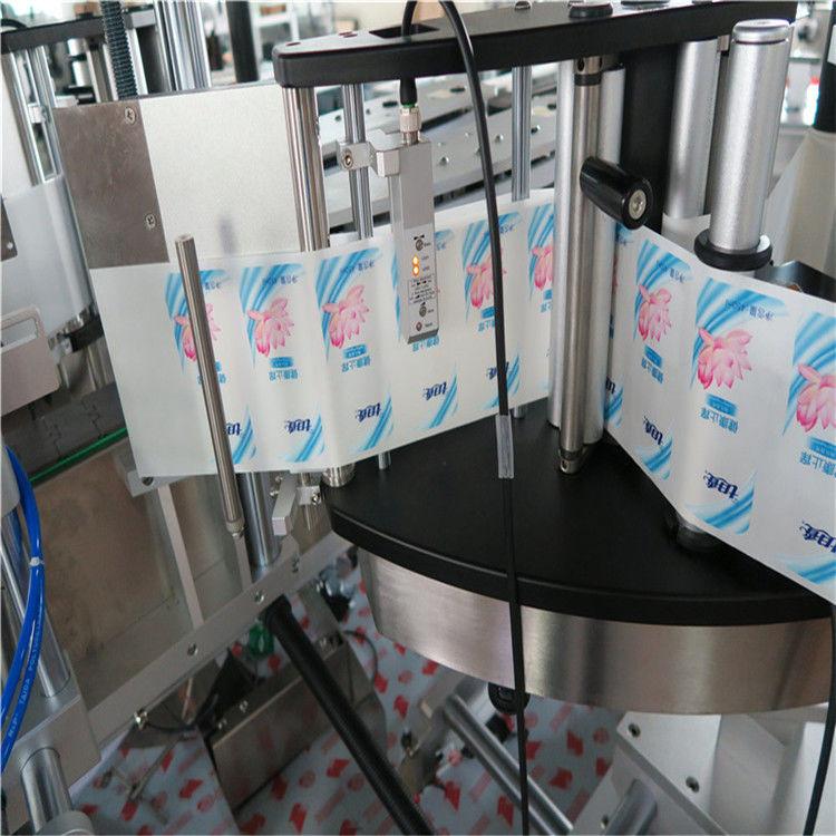 자동적 인 단 하나 / 두 배 옆 육각형 둥근 병 스티커 레테르를 붙이는 기계