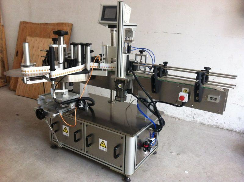 중국 상표 도포 구의 주위에 둥근 병 스티커 레테르를 붙이는 기계 포장 협력 업체