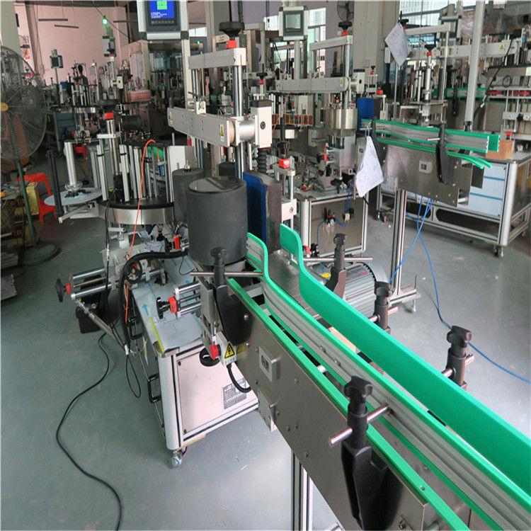 중국 두 배 옆 최대 자동 접착 스티커 병 레테르를 붙이는 기계 190mm 고도 협력 업체
