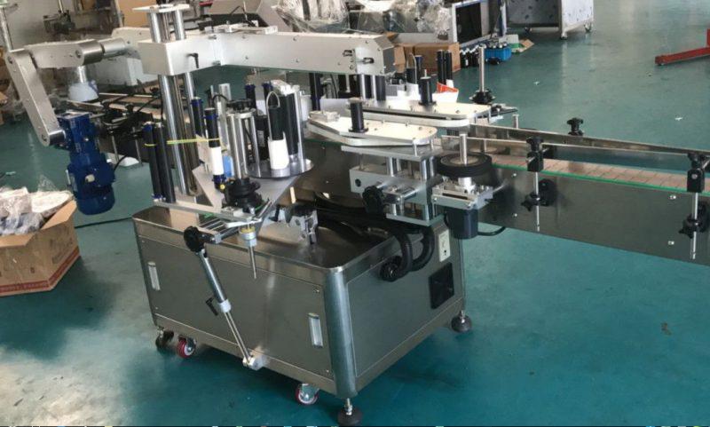 중국 사각 / 둥근 / 편평한 병을위한 고속 두 배 옆 스티커 레테르를 붙이는 기계 협력 업체