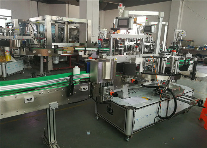 중국 정면 뒷쪽 타원형 병 레테르를 붙이는 기계 2 상표 도포 구 라벨 붙이는 사람 기계 협력 업체