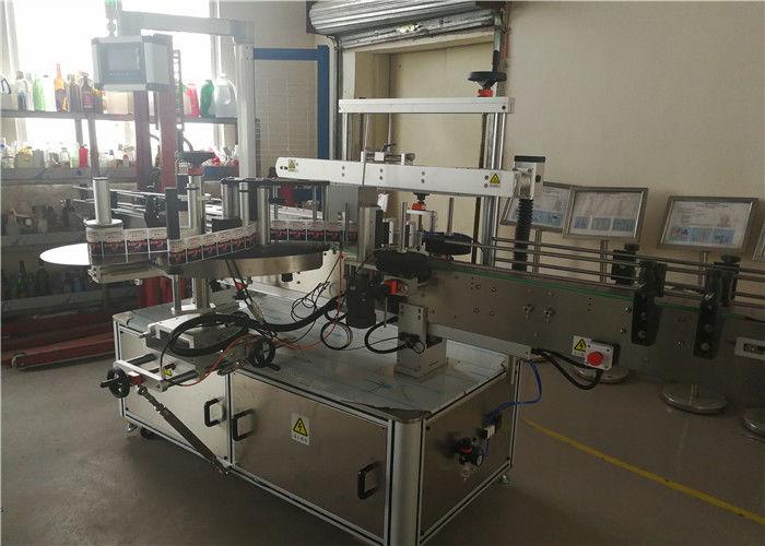 중국 음료 산업에있는 두 배 측 샴푸 타원형 병을 가진 쌍방 레테르를 붙이는 기계 협력 업체