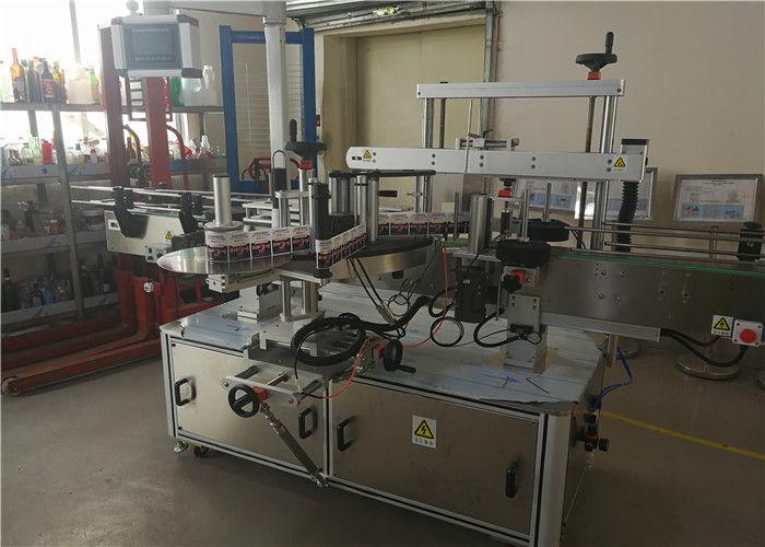 중국 화학 공업에있는 타원형 병을위한 2 개의 머리 타원형 병 레테르를 붙이는 기계 협력 업체