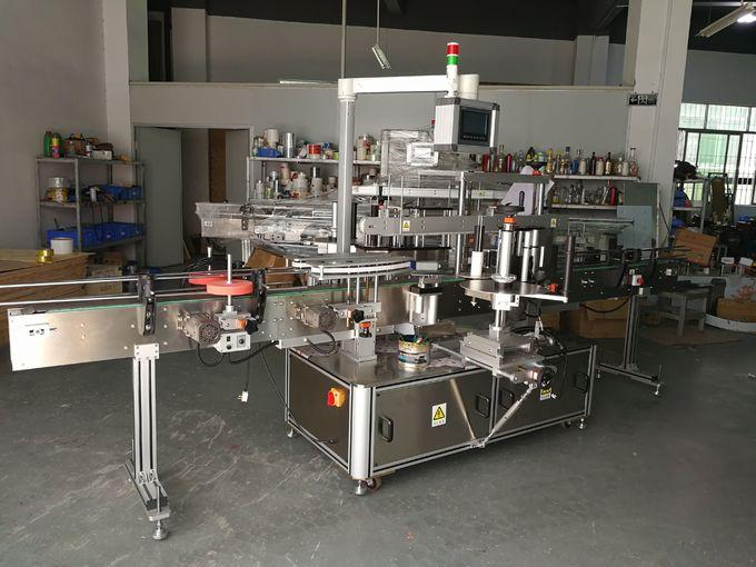 병 5000B / H-시간당 8000B / H 수용량에 타원형 병 레테르를 붙이는 기계 2 스티커