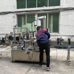 유리 / 애완 동물 병을위한 완전히 자동적 인 물병 레테르를 붙이는 기계