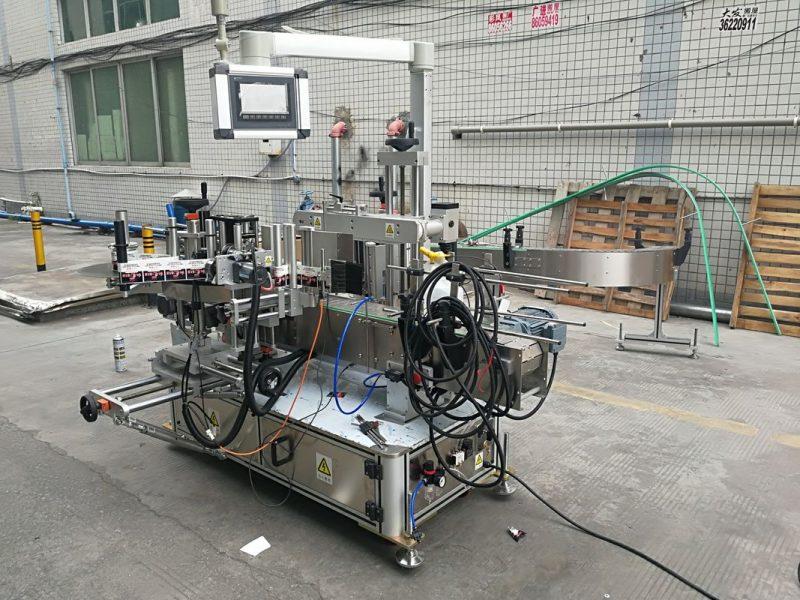 중국 코더를 가진 가득 차있는 자동적 인 접착 성 두 배 옆 병 레테르를 붙이는 기계 협력 업체
