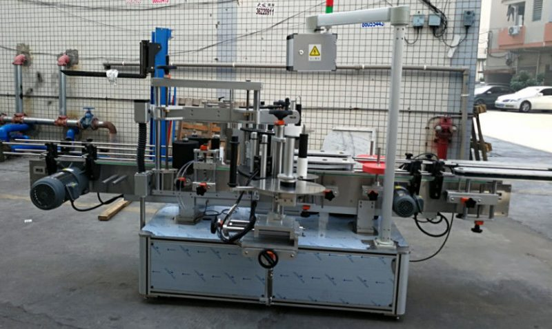 중국 두 배 옆 스티커 타원형 타원형 병 자동적 인 레테르를 붙이는 기계 1200W 협력 업체