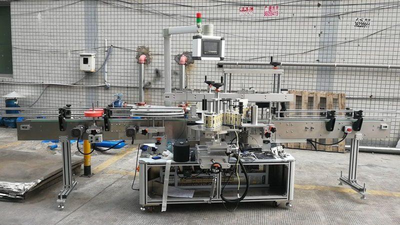 중국 자동적 인 접착 성 정연한 병 레테르를 붙이는 기계 두 배 측 협력 업체