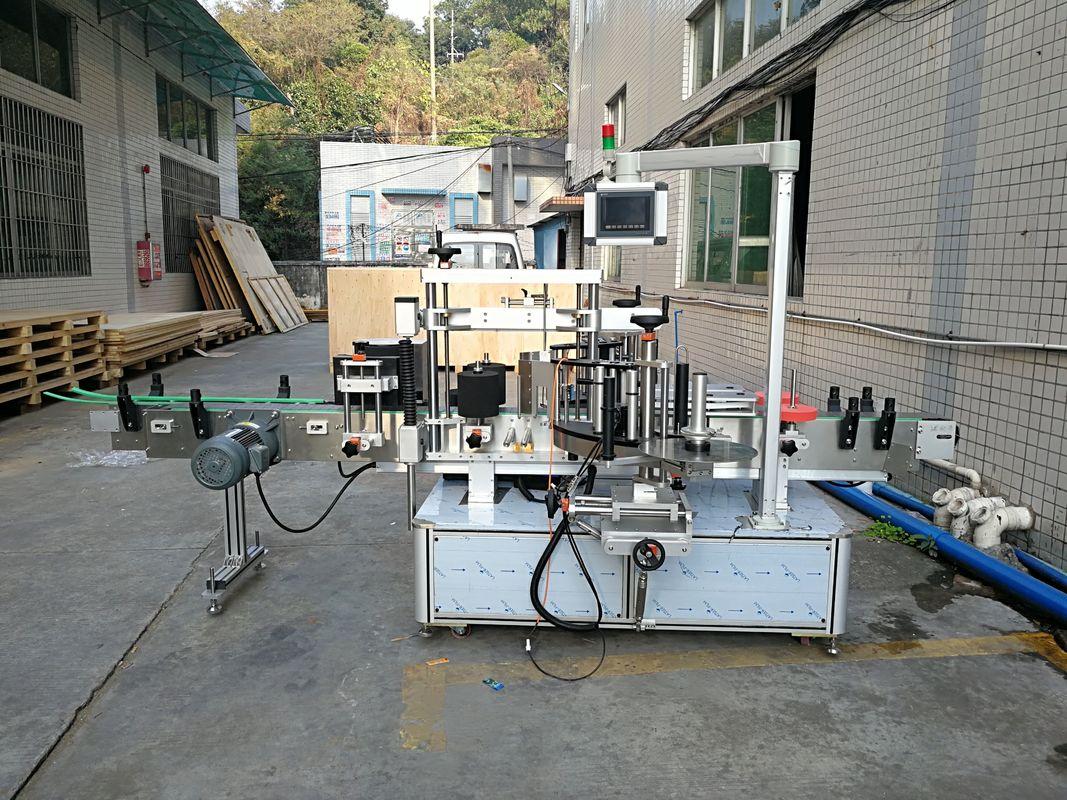 자동적 인 스티커 편평한 병 레테르를 붙이는 기계 통합 전면 및 후면