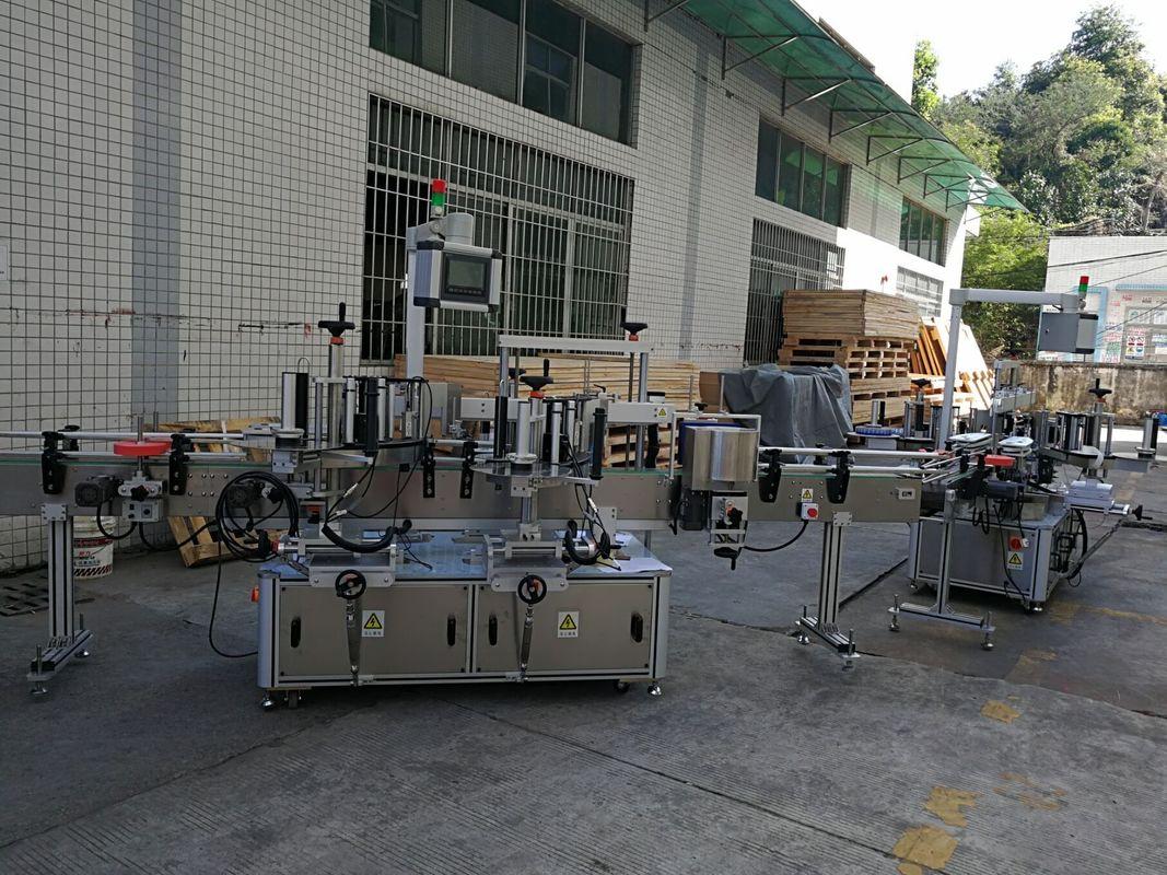 편평한 / 사각 병 스티커 레테르를 붙이는 기계 가득 차있는 자동적 인 5000-8000B / H 수용량