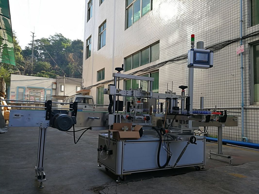접착 성 1 개의 옆 편평한 병 레테르를 붙이는 기계 고 정확도